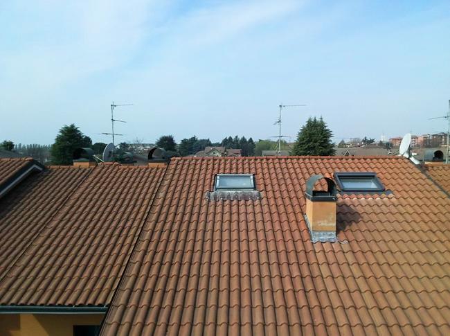 Infiltrazione dal tetto a Cernusco sul Naviglio, Milano